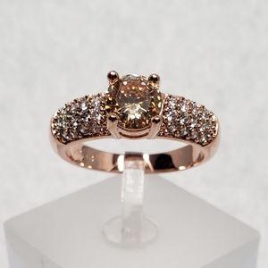 18k Morganite Pave Ring